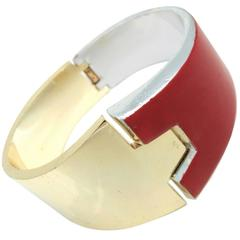 Lanvin Paris Vintage Clamper Hinged Bracelet