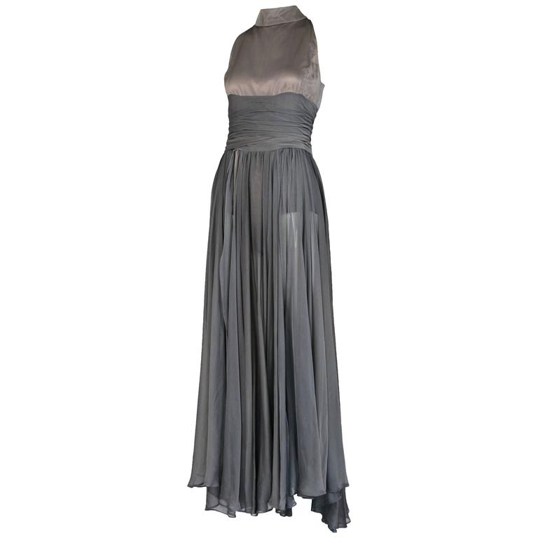 Chloe by Stella McCartney Gray Evening Gown  For Sale