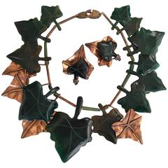 Huge Gerda Lynggaard Monies Ivy Set. Bakelite and Copper. 1988.