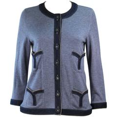 CHANEL Cashmere and Denim Jacket Size 44