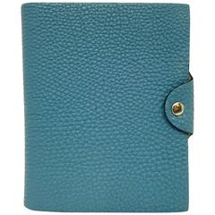 Hermes Ulysse Notebook Blue Jean Togo Leather PHW