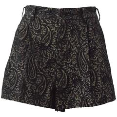 Comme des Garcons Black and Gold Brocade Shorts 2011