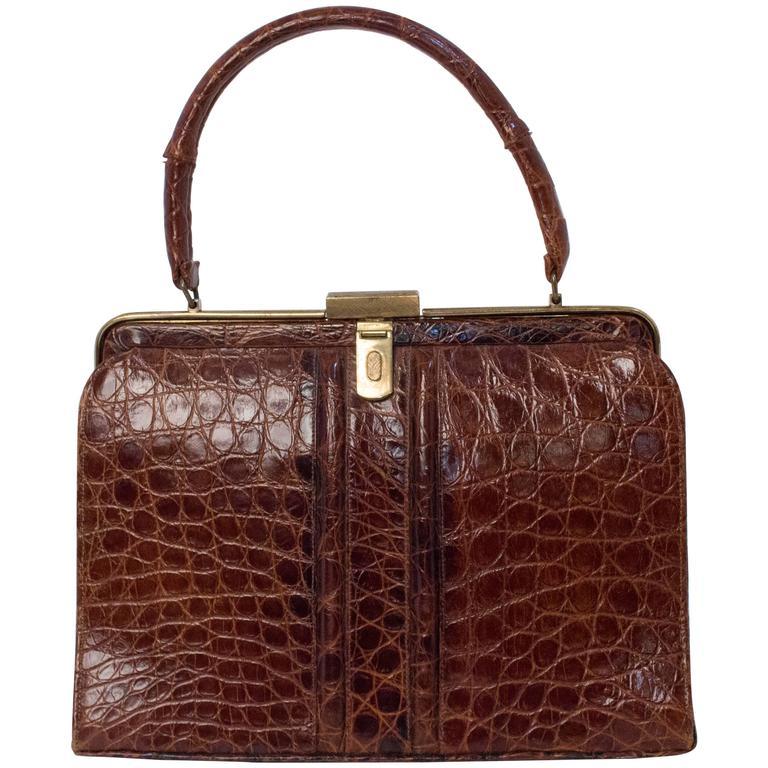 60s Alligator Handbag