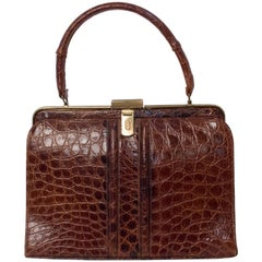 60s Alligator Handbag