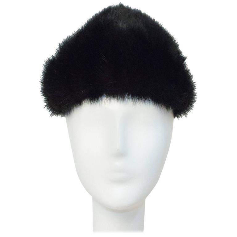 60s Black Mink Hat