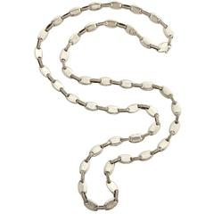 1970s Hermes Long Silver Chain