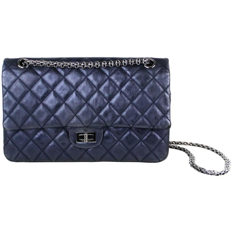 CHANEL Navy 226  Reissue Double Flap  1
