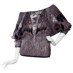 1980s Roberto Cavali Off-Shoulder Sweater