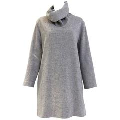 90s Jean Paul Gaultier grey wool and cashmere dress