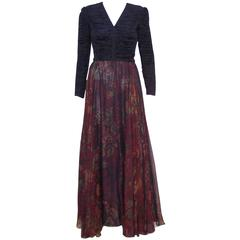 1980's Mary McFadden Couture Gothic Goddess Dress