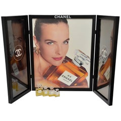 CHANEL Large Size Advertising Allure Perfume Display  Vintage Mint