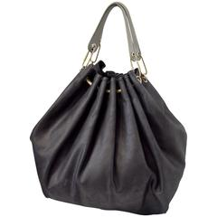 Lanvin Black Leather Oversize Tote Handbag