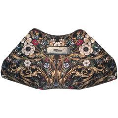 Alexander McQueen Floral Print Silk Folding Clutch
