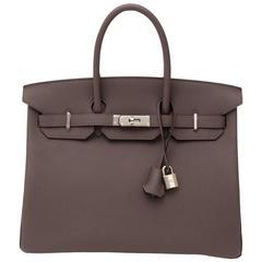 Brand New Hermes Birkin Etain Togo 35