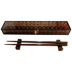 Rare Louis Vuitton Chop Stick Set