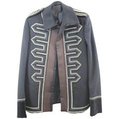 Amazing Men's Gucci Black Wool Jacket. Size Italian 46R