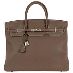Hermès Birkin 40 Etoupe Clemence