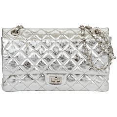 Chanel Silver Metallic 2.55 Reissue Classic Bag