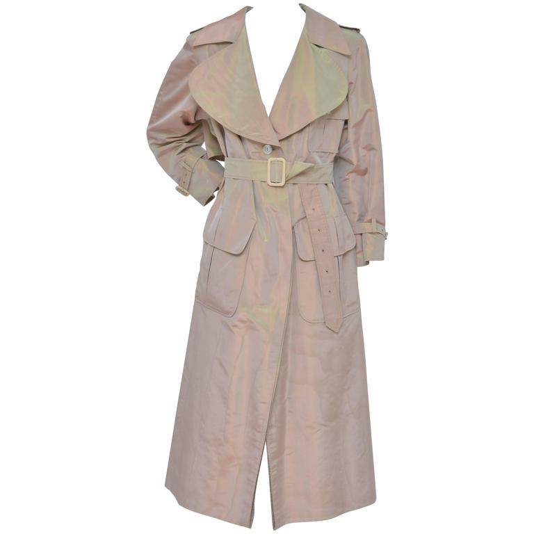 Givenchy Haute Couture Iridescence  Fabric Trench Coat