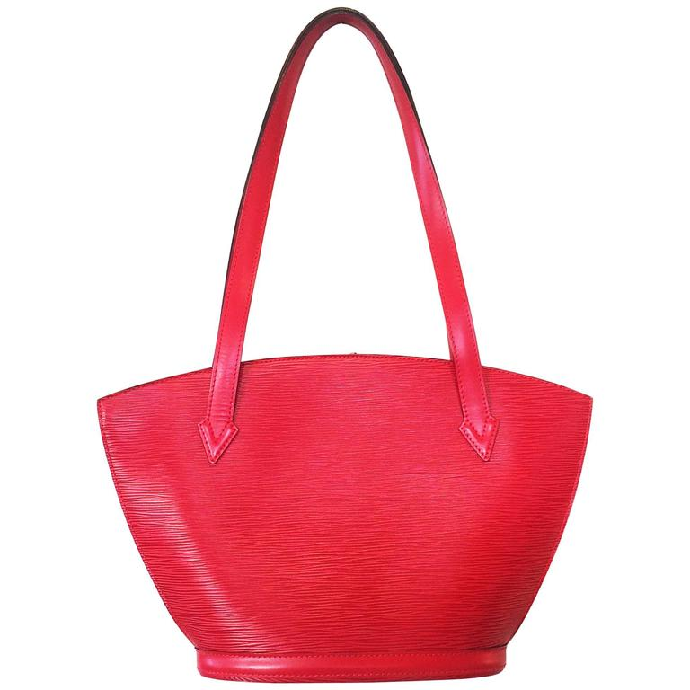Red EPI Leather St. Jacques Louis Vuitton handbag bag purse