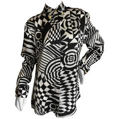 Versace Op Art Silk Blouse by Versus