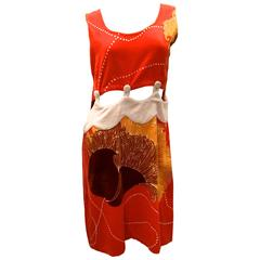 1960's Terry Cloth Day Dress