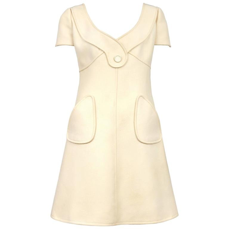 Courreges Cream Day Dress 1