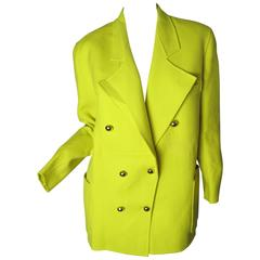 Christian Lacroix Bright Yellow Blazer