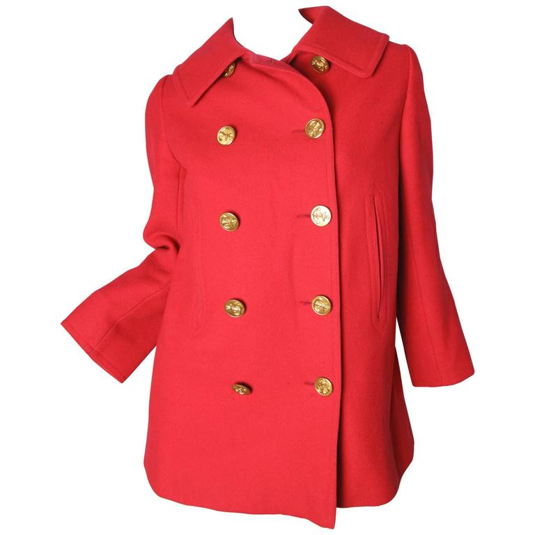 1970s Yves Saint Laurent Pea Coat For Sale