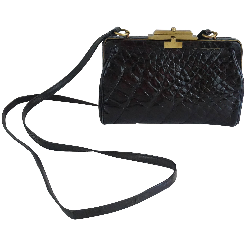 33bd6b1509 Tom Ford for YSL Black Velvet Mombasa Bag with Rhinestone Handle For Sale  at 1stdibs