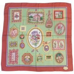 Glorious Gucci Pastoral Manor 100% Silk Twill Scarf