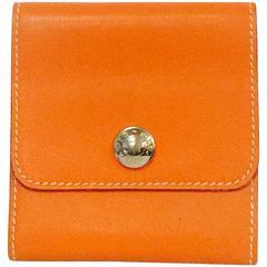 Hermes Signature Orange Leather Post-It Note Holder