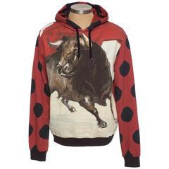 Dolce & Gabbana Men's Cotton Bull Print Sweatshirt, Spring - Summer 2015
