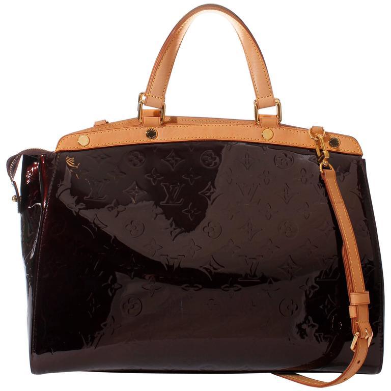 8cc66abb903d Louis Vuitton Brea GM Amarante Bag - burgundy red vernis leather For Sale