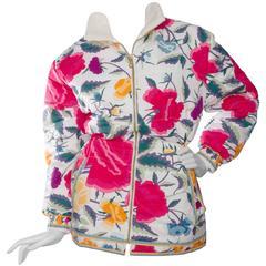 80s Leonard Floral Puffer Jacket