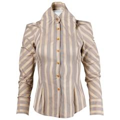 Vivienne Westwood Gold Label Striped Button Up Blouse Top