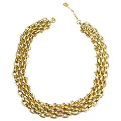 Vintage 1960s Christian Dior Germany Gold Plated Necklace
