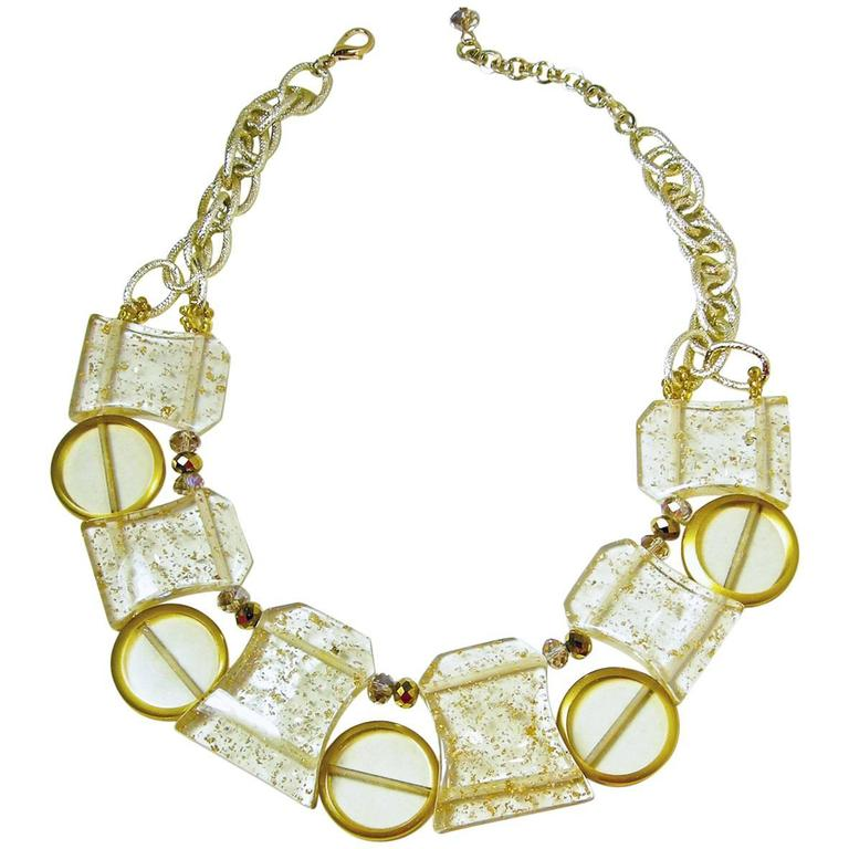 Vintage 1950s Lucite Spheres Necklace 1