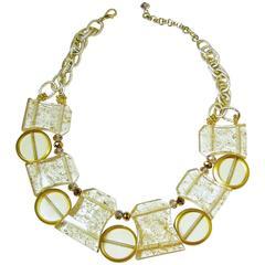 Vintage 1950s Lucite Spheres Necklace