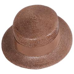 Givenchy Couture Cocoa Straw Boater