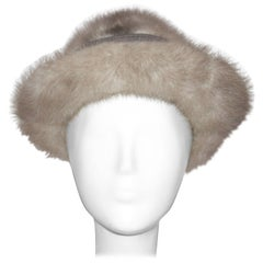 60s Grey Mink Hat