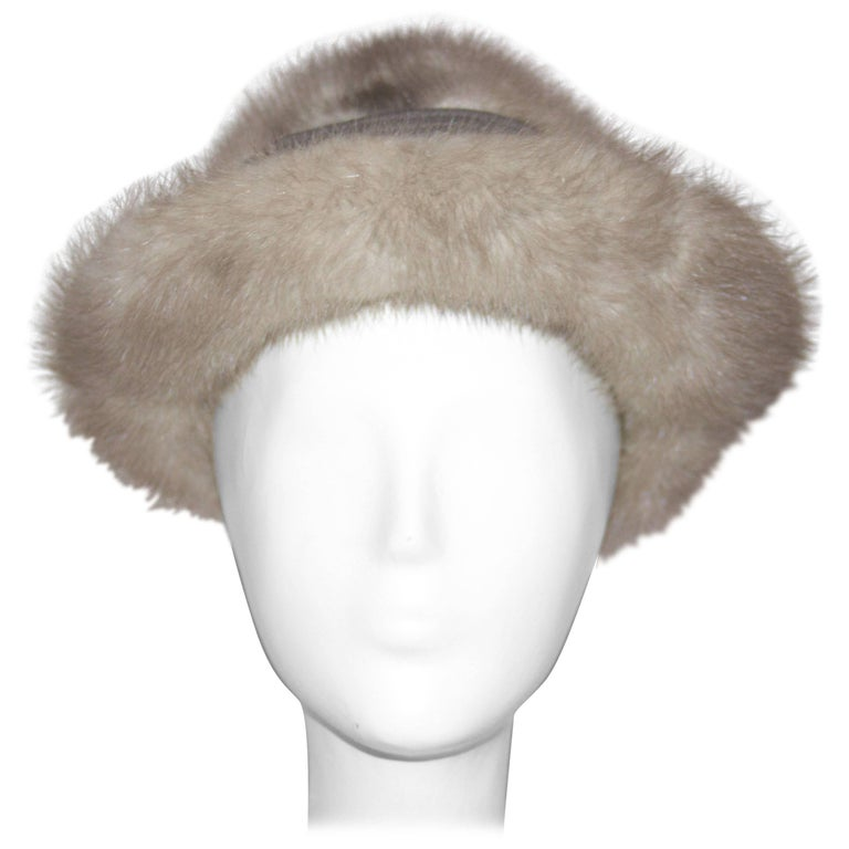 60s Grey Mink Hat  For Sale