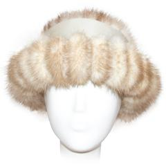 60s Blonde Coffee Mink Hat