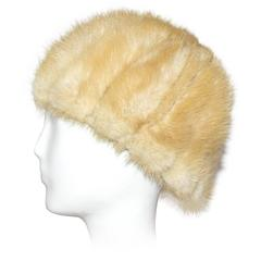 60s Blonde Mink Strip Hat