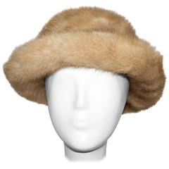 60s Honey Blonde Mink Hat