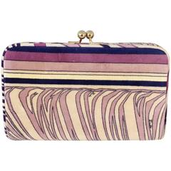 1960s Emilio Pucci Lilac Velvet Clutch