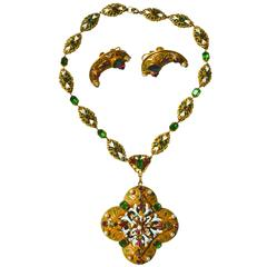 Hobe Large Austro-Hungarian Style Necklace and Earrings