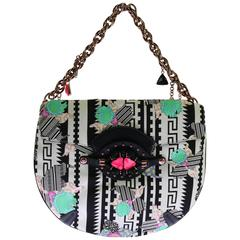 Versace embellished printed bag with chain