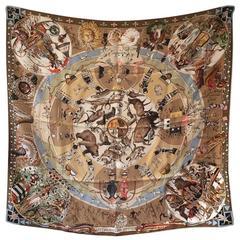 Collectible Hermes Mythologies des Hommes Silk Scarf