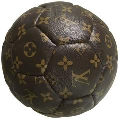 Limited edition France 98 Louis Vuitton Football Ball with Leather Strap